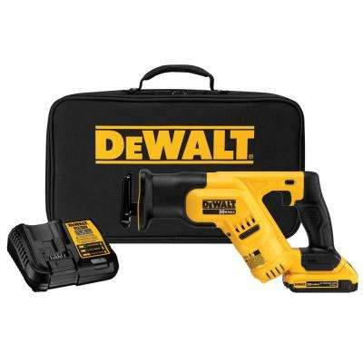 20-Volt MAX Lithium-Ion Cordless Compact Reciprocating Saw with Battery 2Ah, Charger and Kit Bag