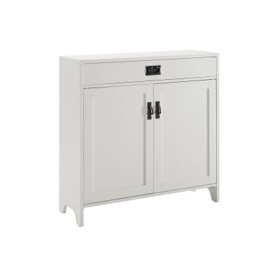 Fremont Distressed White Accent Cabinet