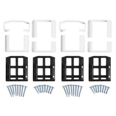 Vanderbuilt/Delray/Bellaire/Vilano White Straight Railing Bracket Kit (4-Piece)