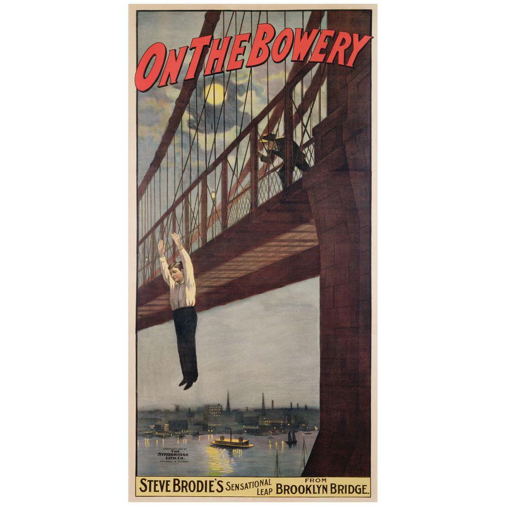 16 in. x 32 in. Steve Brodies Leap from the Brooklyn