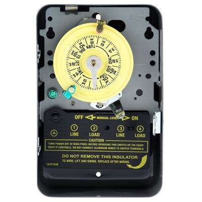 T104 40 Amp 208-277-Volt DPST 24-Hour Mechanical Time Switch with Indoor Enclosure