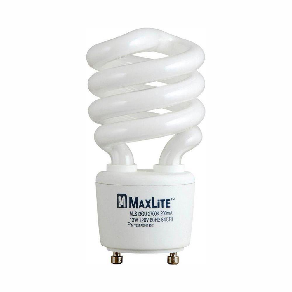 60W Equivalent Soft White (2700K) Spiral CFL Light Bulb