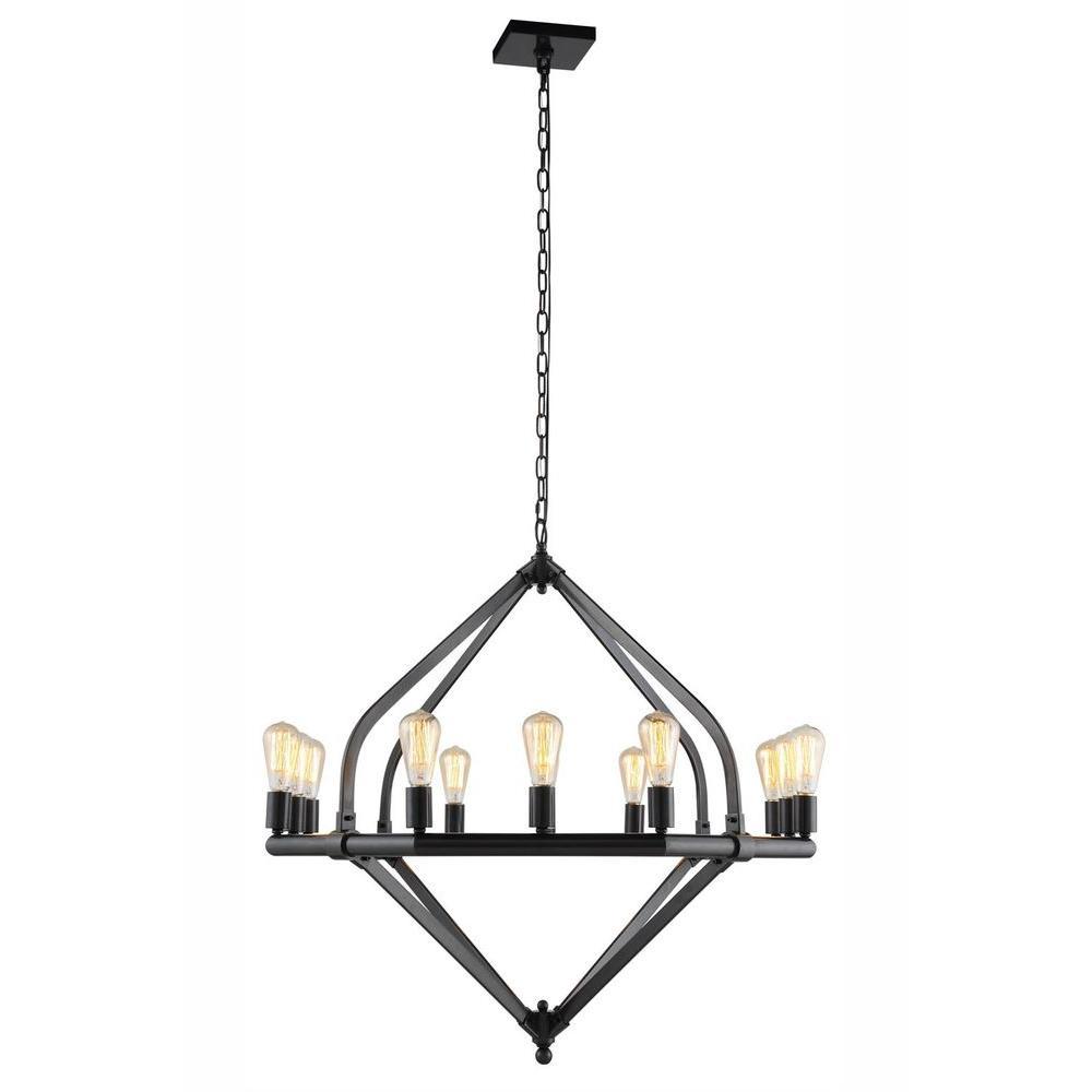 Illumina 12-Light Bronze Pendant Lamp