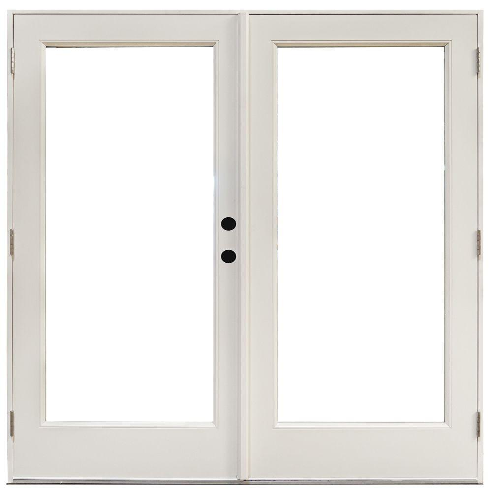 Patio Doors Product: Steves And Sons 72 In. X 80 In. Mini-Blind Primed White