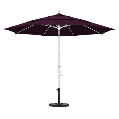 11 ft. Fiberglass Collar Tilt Double Vented Patio Umbrella in Purple Pacifica