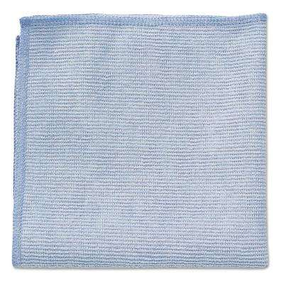 12 in. x 12 in. Light Commercial Blue Microfiber Cloth (24-Count)