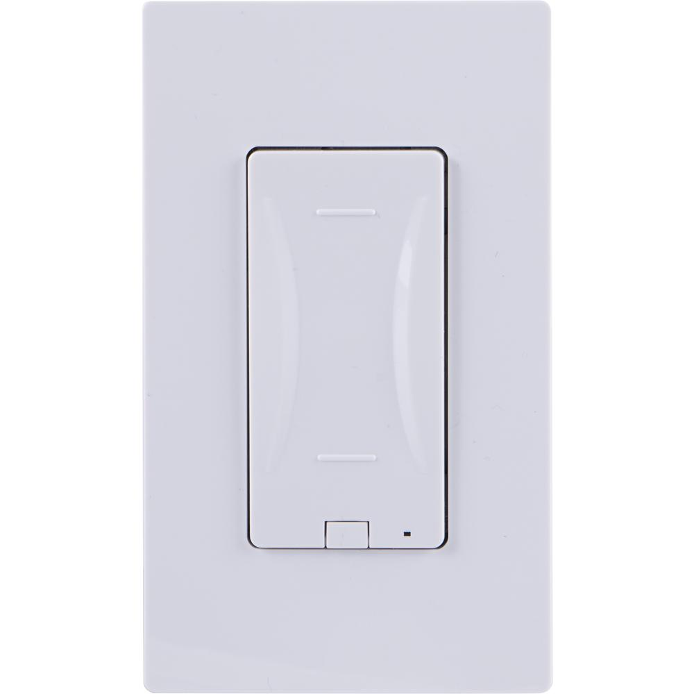 Ge Z Wave In Wall Smart Dimmer With Capacitive Touch Panel Paddle Switch Control Almond White