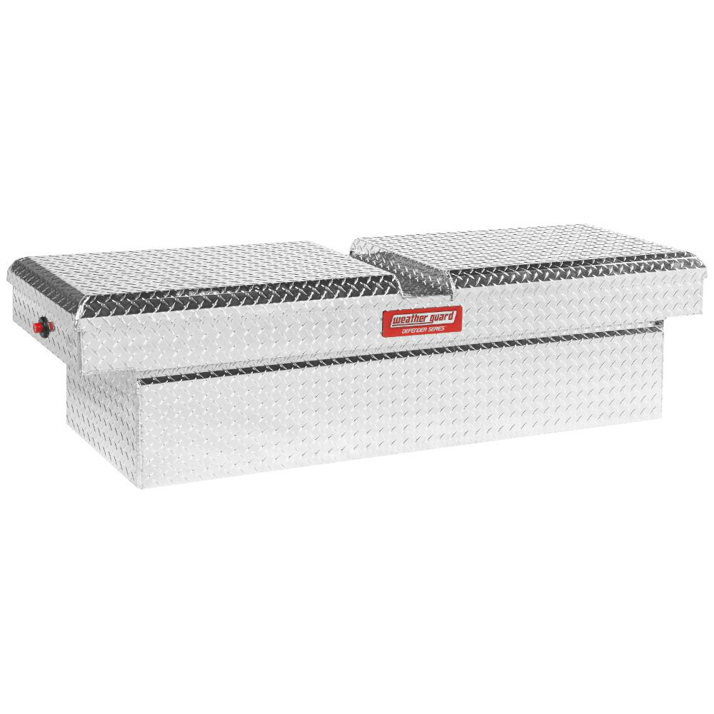 Weather Guard 71 5 Diamond Plate Aluminum Full Size Crossbed Truck Tool Box