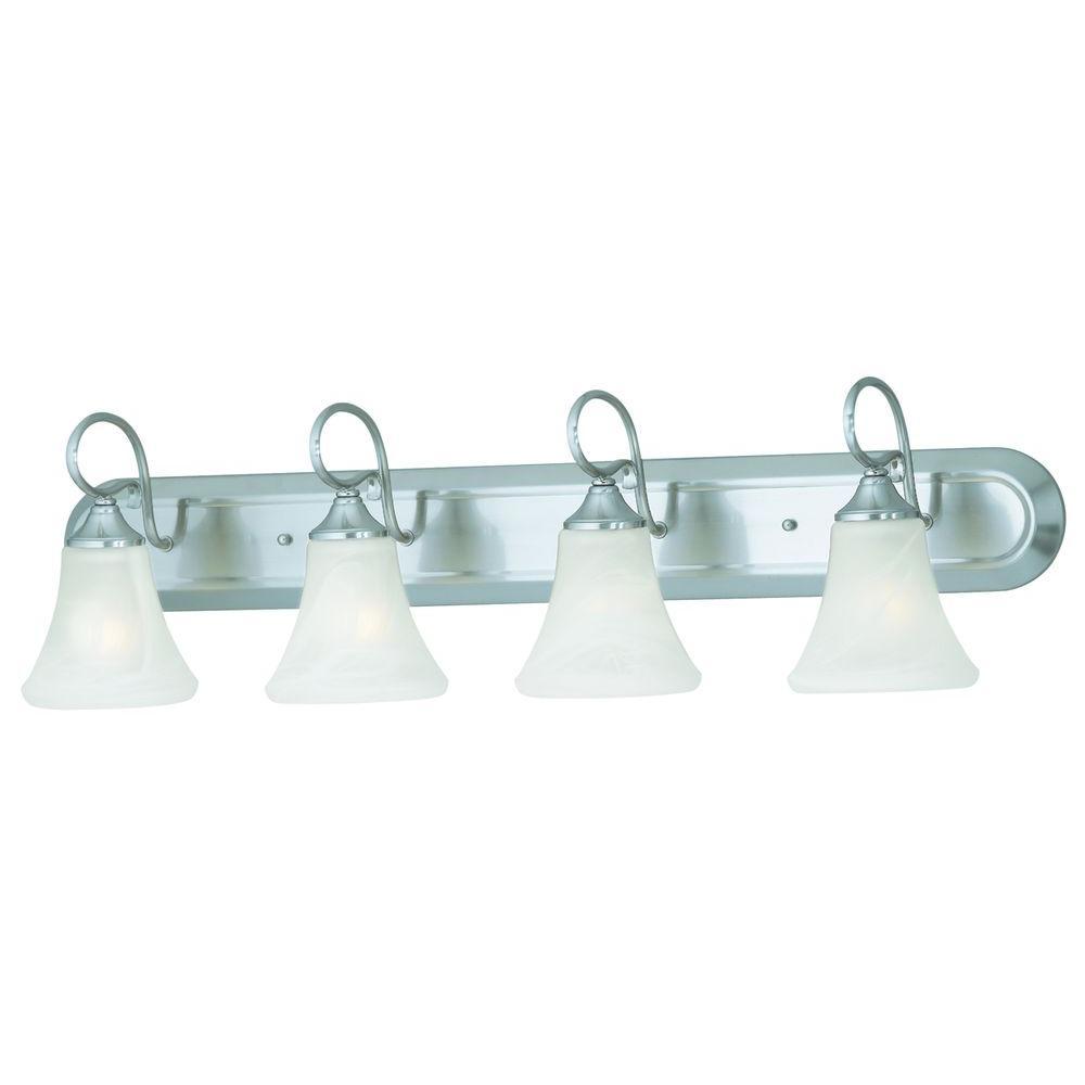 Elipse 4-Light Brushed Nickel Wall Vanity Light