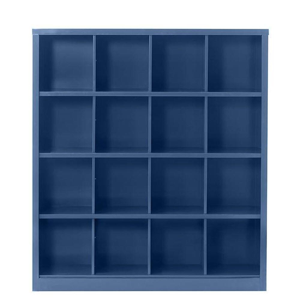 Lachlan 53.25 in. x 60 in. Sapphire 16-Cube Storage Organizer