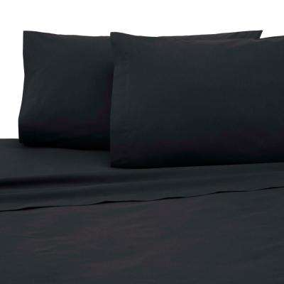 225 Thread Count Ebony Cotton Queen Sheet Set