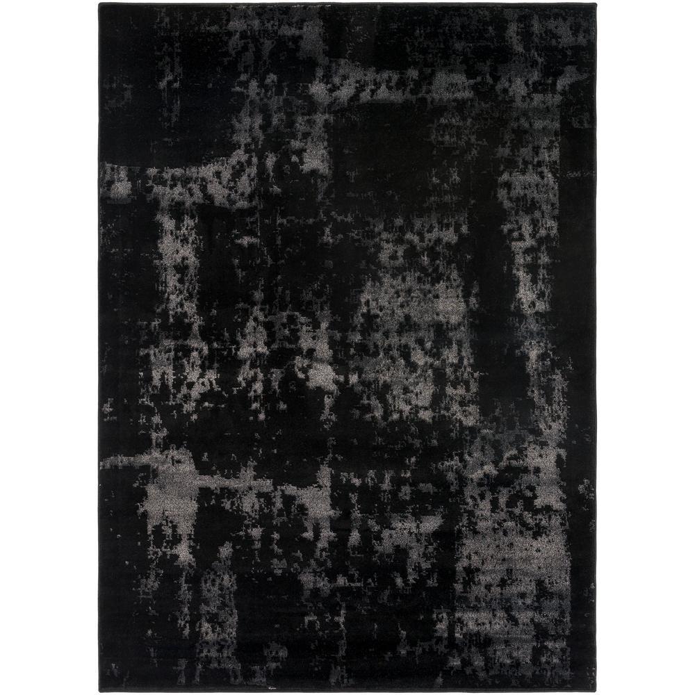 Amadeo Black 5 ft. 3 in. x 7 ft. 3 in. Indoor Area Rug