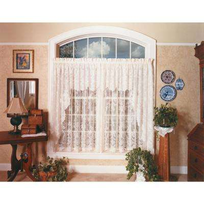 English Ivy 60 in. L Polyester Valance in White