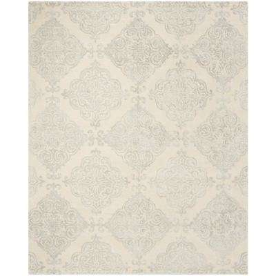 Glamour Ivory/Silver 8 ft. x 10 ft. Area Rug