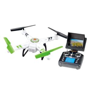 Quadrone Vision Drone with Camera - White and Green by Quadrone