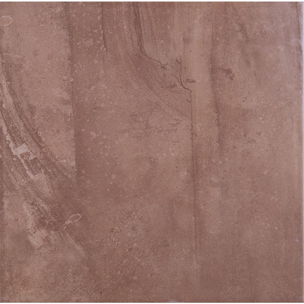 ELIANE Cityscape 12 in. x 12 in. Plaza Brown Porcelain Floor and Wall Tile-DISCONTINUED