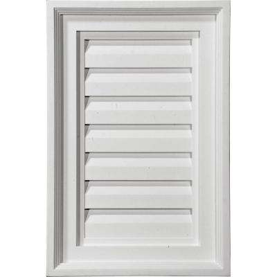 2 in. x 15 in. x 15 in. Decorative Vertical Gable Louver Vent