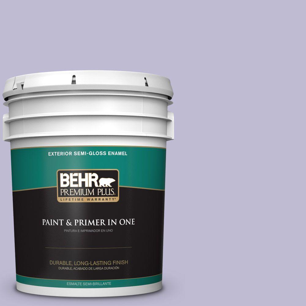 BEHR Premium Plus 5-gal. #640C-3 Twilight Pearl Semi-Gloss Enamel Exterior Paint