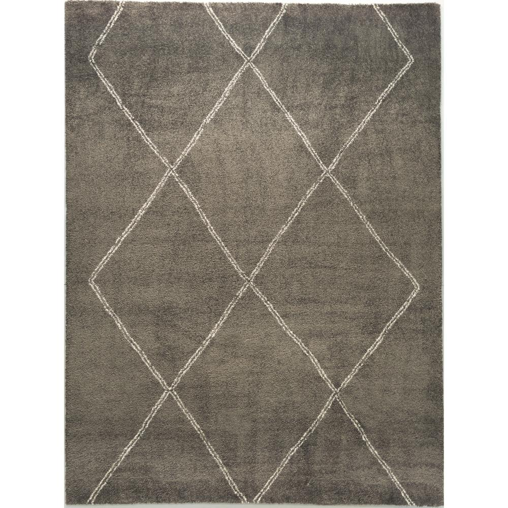 Home Decorators Collection Diamond Maze Grey 5 Ft 3 In X 7 Ft