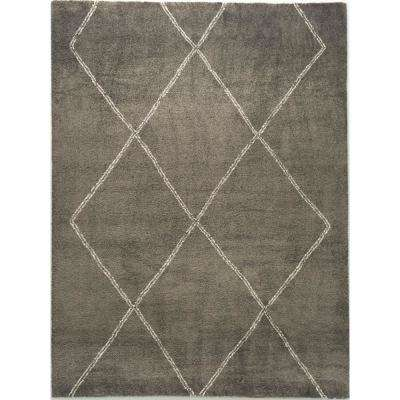Diamond Maze Grey 1 ft. 11 in. x 2 ft. 11 in. Area Rug