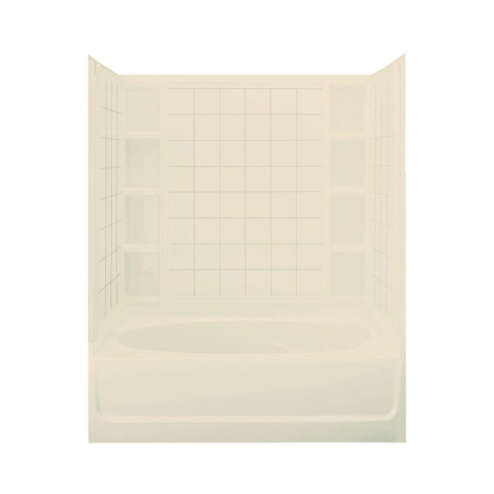 STERLING Ensemble 60 in. x 42 in. x 72 in. Standard Fit Bath/Shower Kit in Almond-DISCONTINUED