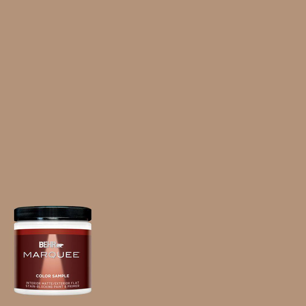 BEHR MARQUEE 8 oz. #hdc-FL14-6 Gingerbread Latte Interior/Exterior Flat/Matte Paint Sample