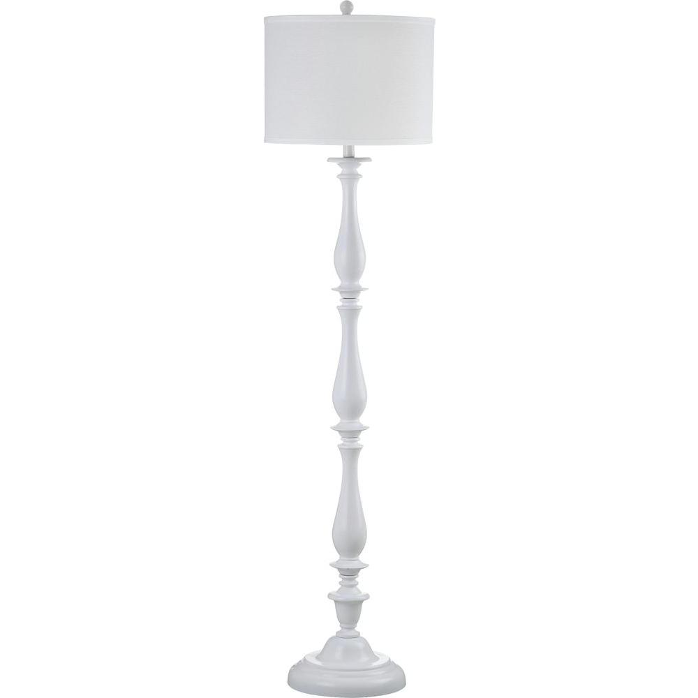 Safavieh Bessie Candlestick 62 In White Floor Lamp With