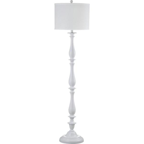 Safavieh Bessie 62 In White Candlestick Floor Lamp With Off White Shade Lit4327a The Home Depot