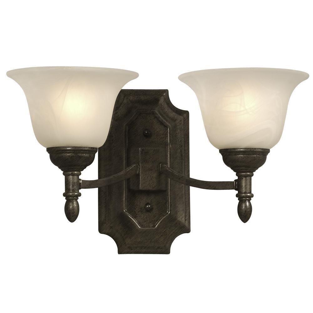 Filament Design Negron 2-Light Medieval Bronze Incandescent Bath Vanity Light