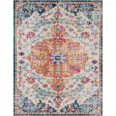 Harput Ivory 7 ft. 10 in. x 10 ft. 3 in. Indoor Area Rug