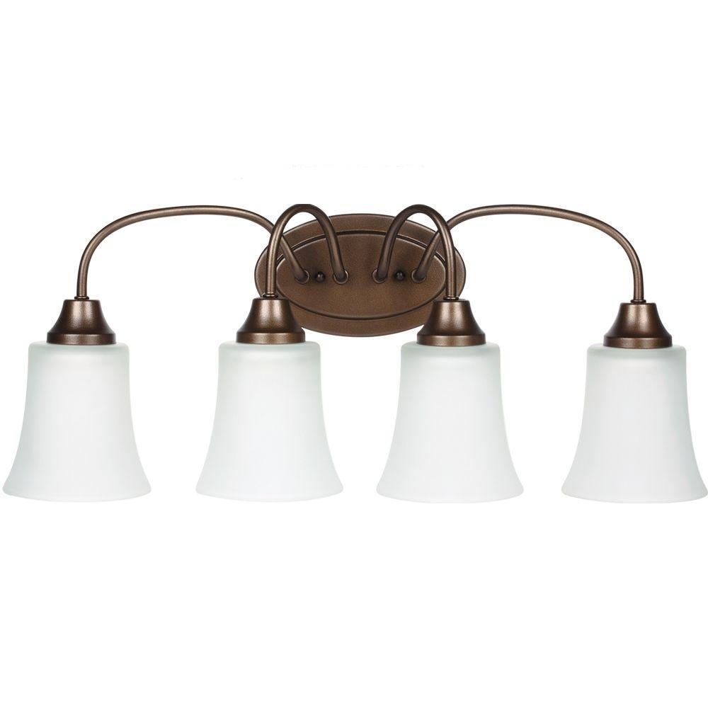Sea Gull Lighting Holman 4-Light Bell Metal Bronze Vanity Light