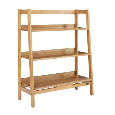 43.5 in. Acorn Wood 3-shelf Ladder Bookcase with Open Back