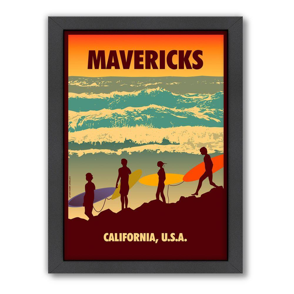 """Americanflat 27 in. x 21 in. """"Mavericks"""" by Diego Patino Framed Wall Art"""
