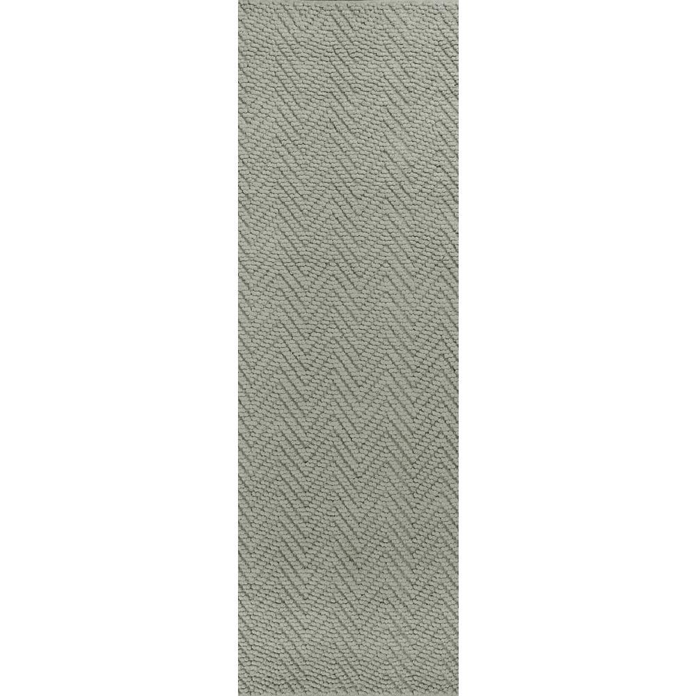 Organic Herringbone Grey 2 ft. x 8 ft. Runner Rug