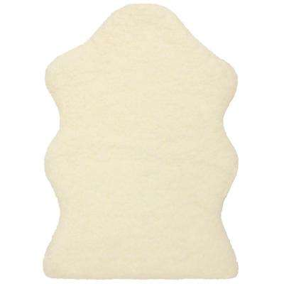 Micro Sheep 2 ft. x 3 ft. Bath and Accent Rug, Ivory