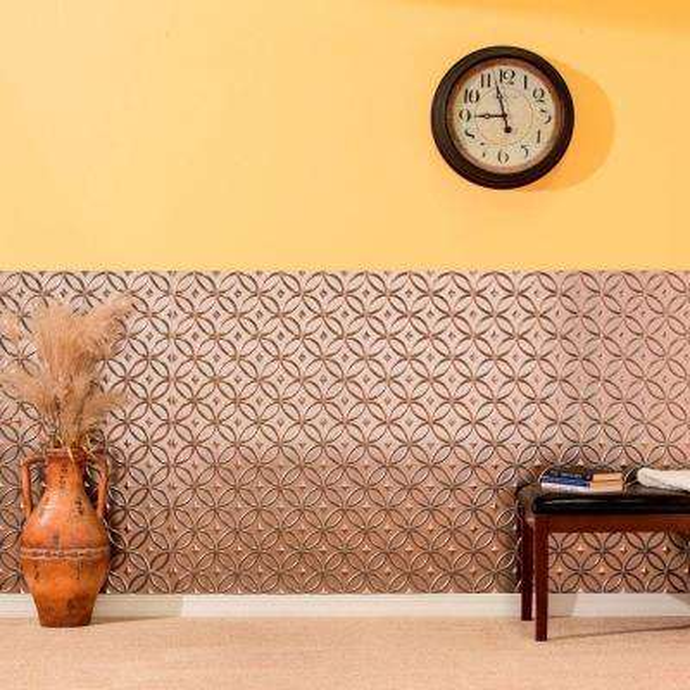 Rings 96 in. x 48 in. Decorative Wall Panel in Fern