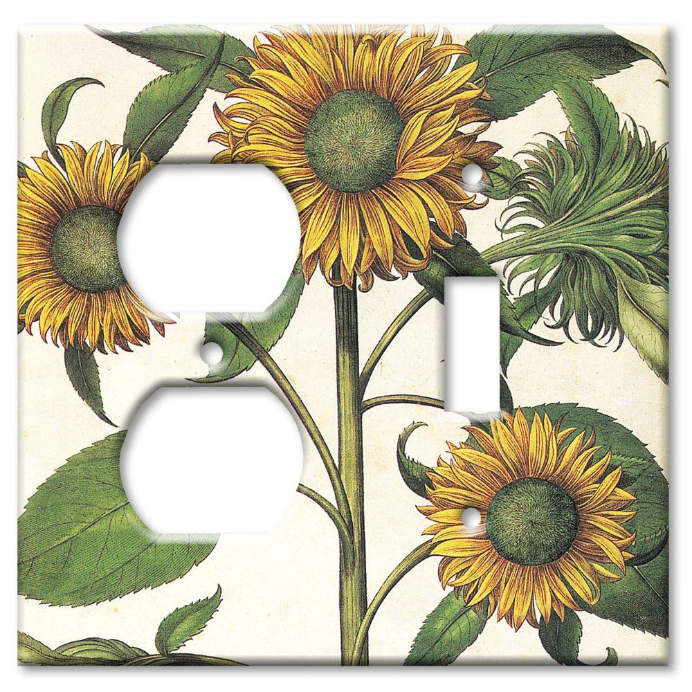 Art Plates Sunflowers Outlet/Switch Combo Wall Plate
