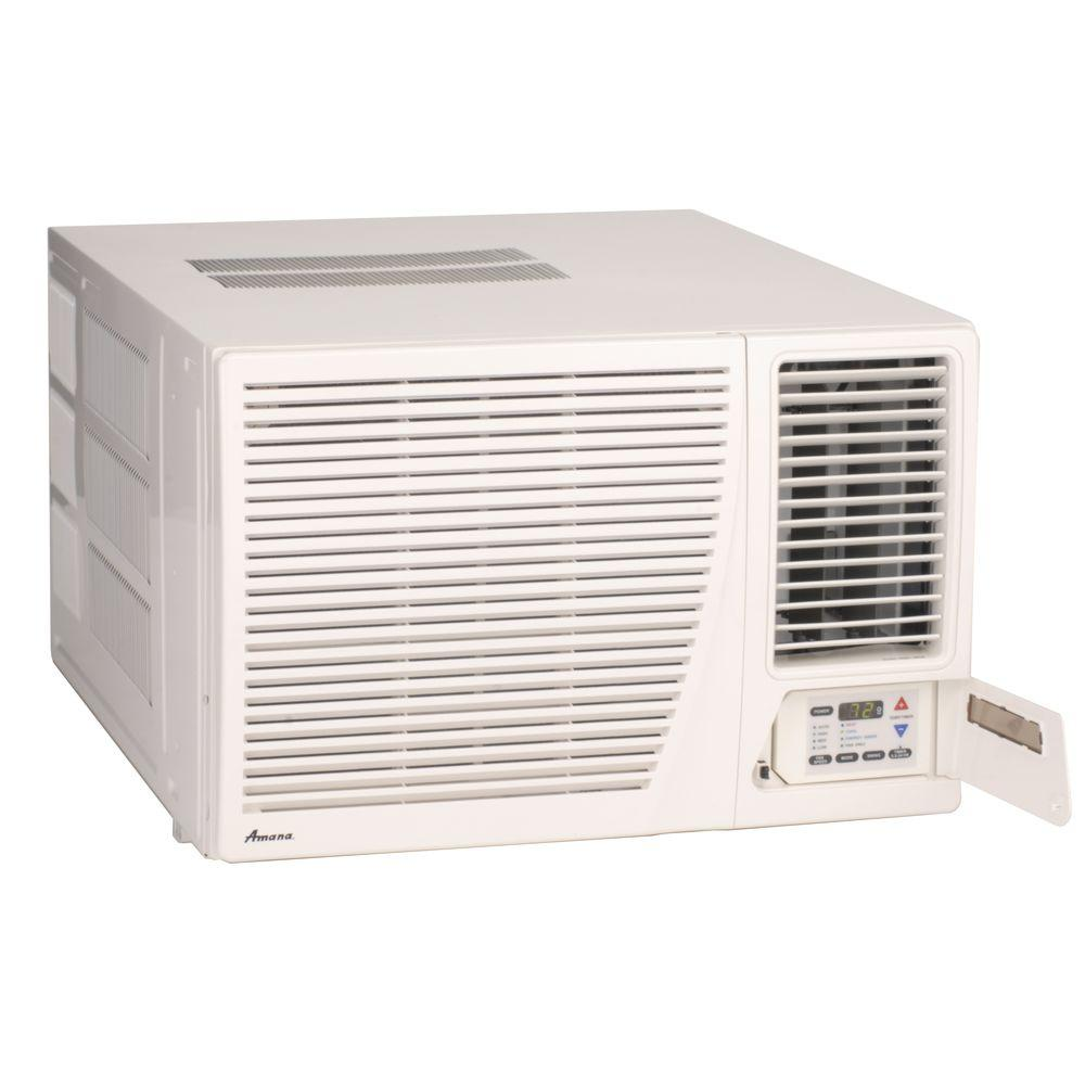 A h heating air conditioning service - Amana 17 600 Btu R 410a Window Air Conditioner With 3 5 Kw Electric Heat And Remote Ae183g35ax The Home Depot