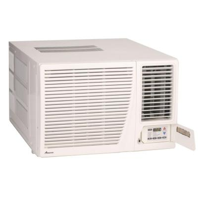 17,300 BTU R-410A Window Heat Pump Air Conditioner with 3.5 kW Electric Heat and Remote