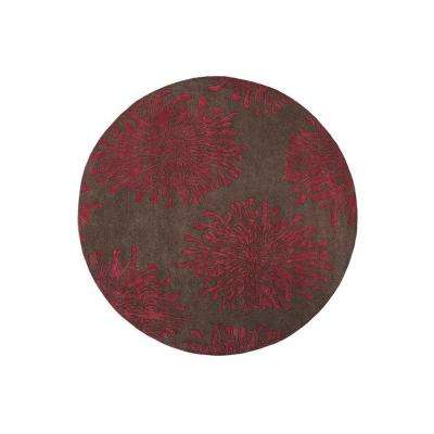 Brunswick Brown 8 ft. x 8 ft. Round Area Rug