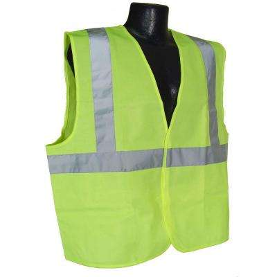 Class 2 Extra Large Green Solid Safety Vest