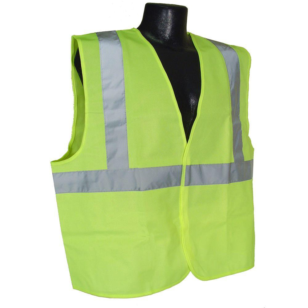 Class 2 2X-Large Green Solid Safety Vest