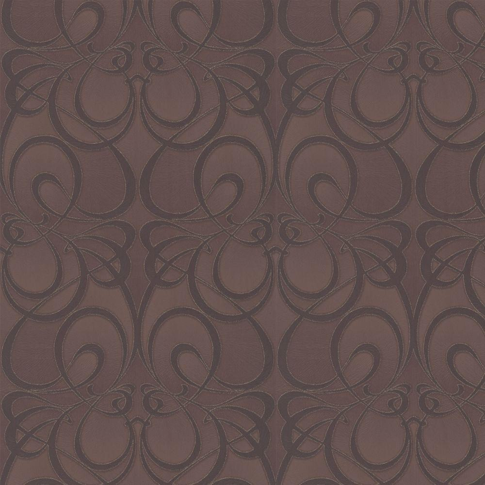 Graham & Brown 56 sq. ft. Jazz Brown Wallpaper-DISCONTINUED