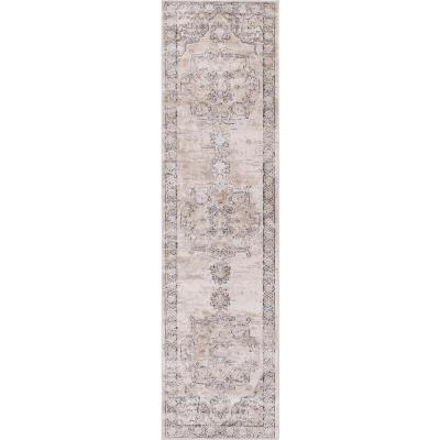 Unique Loom Portland Canby Ivory/Beige 2 ft. 2 in. x 8 ft. Runner Rug
