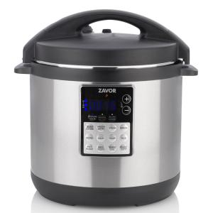 LUX EDGE 6 Qt. Stainless Steel Electric Pressure Cooker with Stainless Steel Cooking Pot