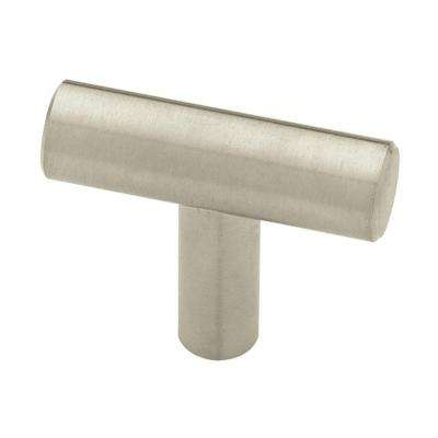 1-9/16 in. (40mm) Stainless Steel Bar Cabinet Knob (6-Pack)