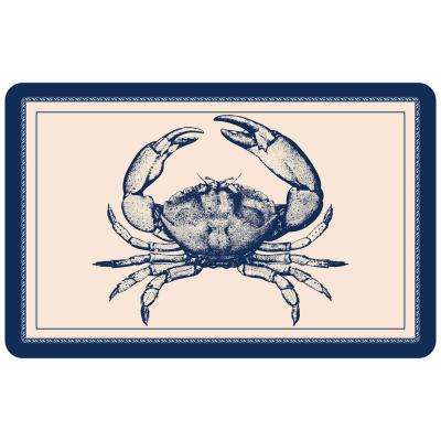 Premium Comfort Nautical Crab 18 in. x 27 in. Door Mat