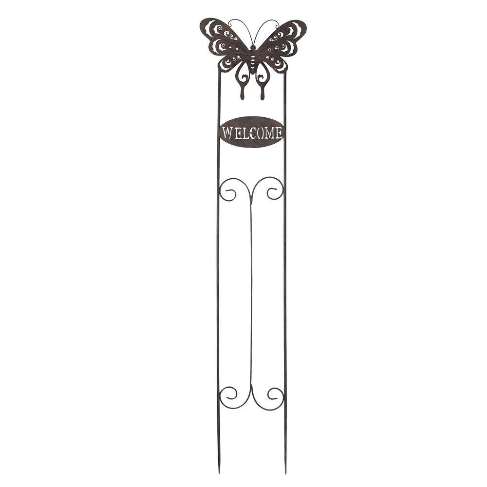 Sunjoy Welcome Butterfly Garden Stake