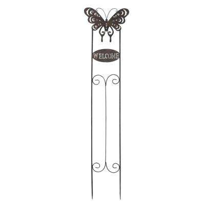 Welcome Butterfly Garden Stake