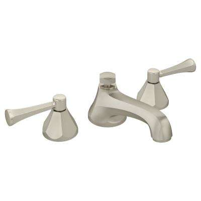 Canterbury 8 in. Widespread 2-Handle Bathroom Faucet with Drain Assembly in Satin Nickel (1.5 GPM)